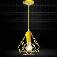 Підвісний світильник RUBY E27 жовтий, фото 7