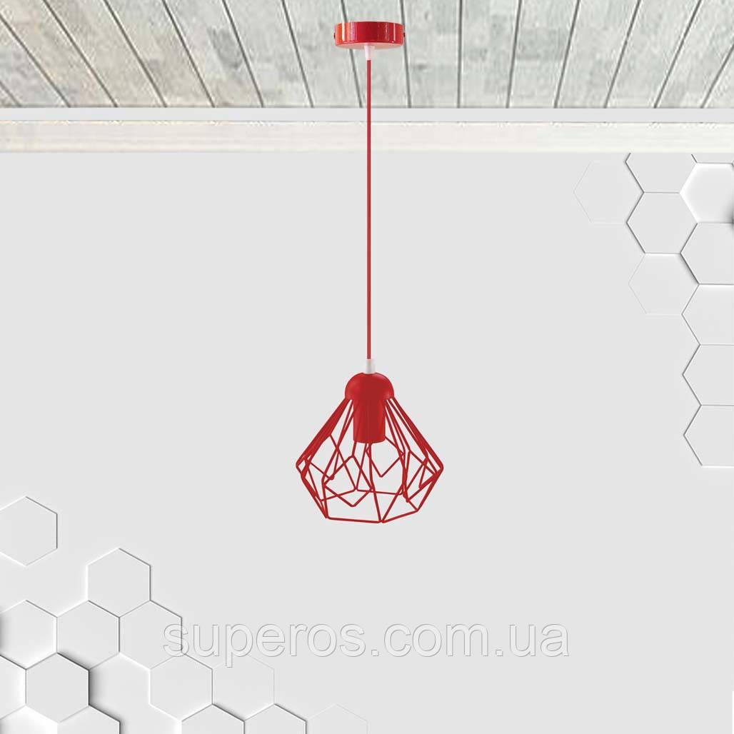 Подвесной светильник SKRAB E27 красный