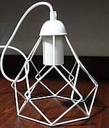Подвесная люстра на 2-лампы RUBY-2 E27 белый, фото 4