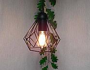 Підвісна люстра на 5 ламп SKRAB-5G E27 на круглій основі, чорний, фото 3