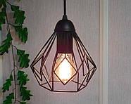 Підвісна люстра на 5 ламп SKRAB-5G E27 на круглій основі, чорний, фото 4