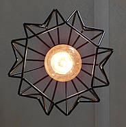 Підвісна люстра на 5 ламп SKRAB-5G E27 на круглій основі, чорний, фото 7