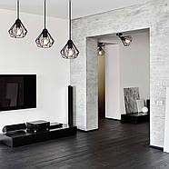 Підвісна люстра на 5 ламп SKRAB-5G E27 на круглій основі, чорний, фото 9