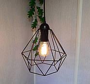 Підвісна люстра на 5 ламп CLASSIC-5G E27 на круглій основі, чорний, фото 2