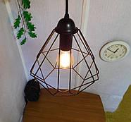 Підвісна люстра на 5 ламп CLASSIC-5G E27 на круглій основі, чорний, фото 3