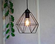 Підвісна люстра на 5 ламп CLASSIC-5G E27 на круглій основі, чорний, фото 4