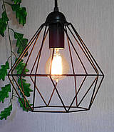 Підвісна люстра на 5 ламп CLASSIC-5G E27 на круглій основі, чорний, фото 5