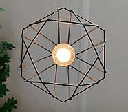 Підвісна люстра на 5 ламп CLASSIC-5G E27 на круглій основі, чорний, фото 6