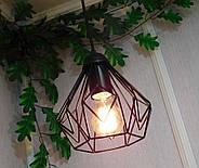 Підвісна люстра на 3-лампи SKRAB-3G E27 на круглій основі, чорний, фото 5