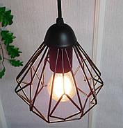 Підвісна люстра на 3-лампи SKRAB-3G E27 на круглій основі, чорний, фото 6
