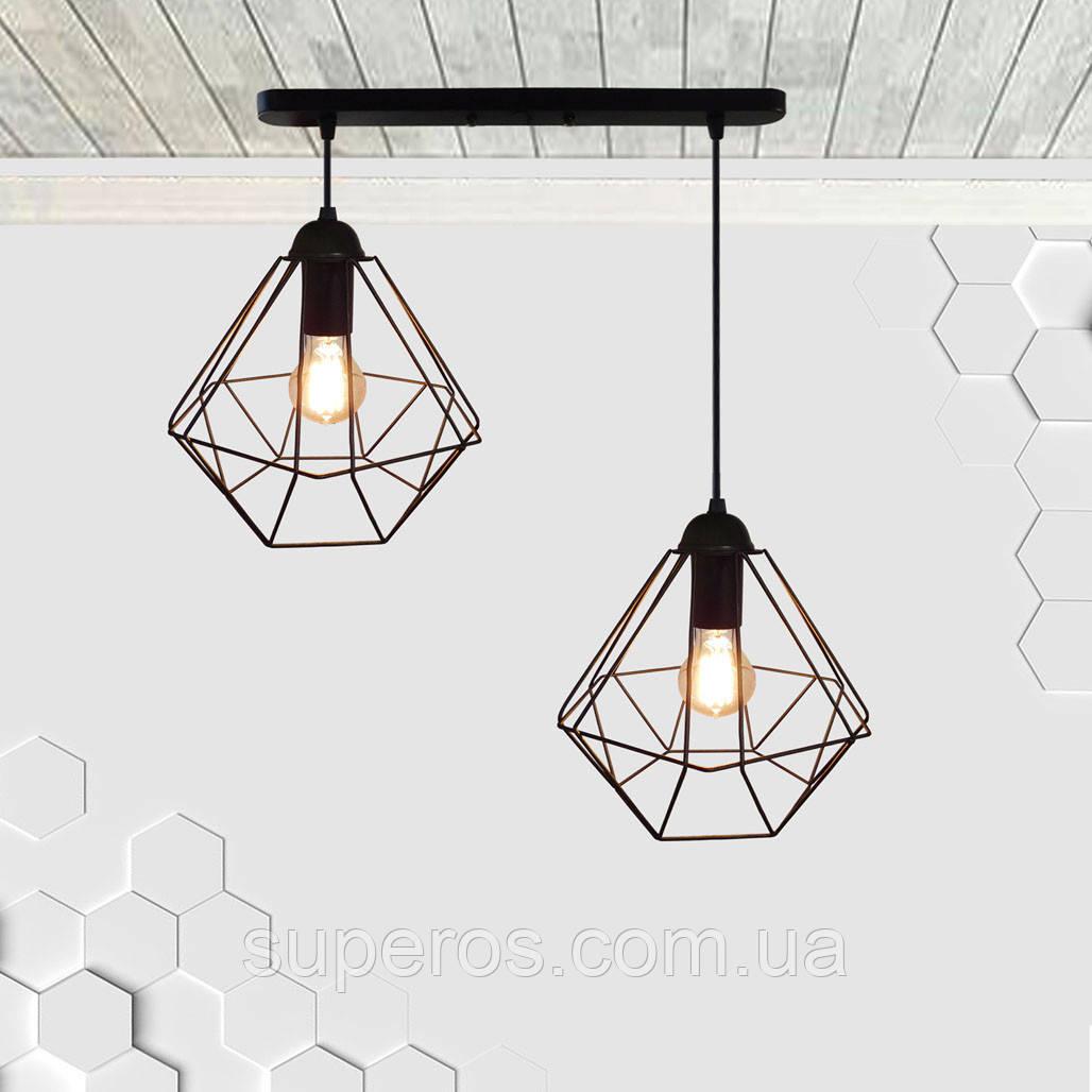 Подвесная люстра на 2-лампы CLASSIC-2 E27 чёрный