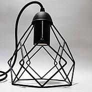 Підвісна люстра на 2-лампи RUBY-2 E27 чорний, фото 3