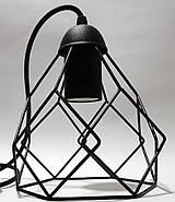 Підвісна люстра на 2-лампи RUBY-2 E27 чорний, фото 4