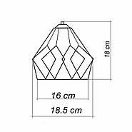 Підвісна люстра на 2-лампи RUBY-2 E27 чорний, фото 10
