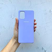 Чехол на Samsung Galaxy A71 Silicone Case фиалковый силиконовый / для Самсунг Гелекси А71