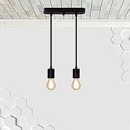 Підвісний світильник на 2-лампи CEILING-2 E27 чорний, фото 2