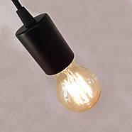 Підвісний світильник на 2-лампи CEILING-2 E27 чорний, фото 6