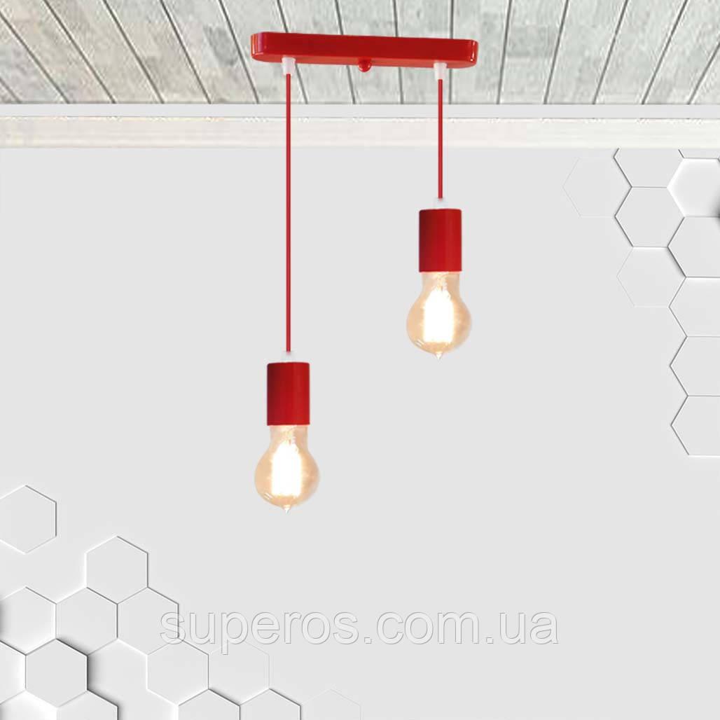 Подвесной светильник на 2-лампы CEILING-2 E27 красный