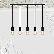Подвесной светильник на 5-ламп CEILING-5 E27 чёрный, фото 3