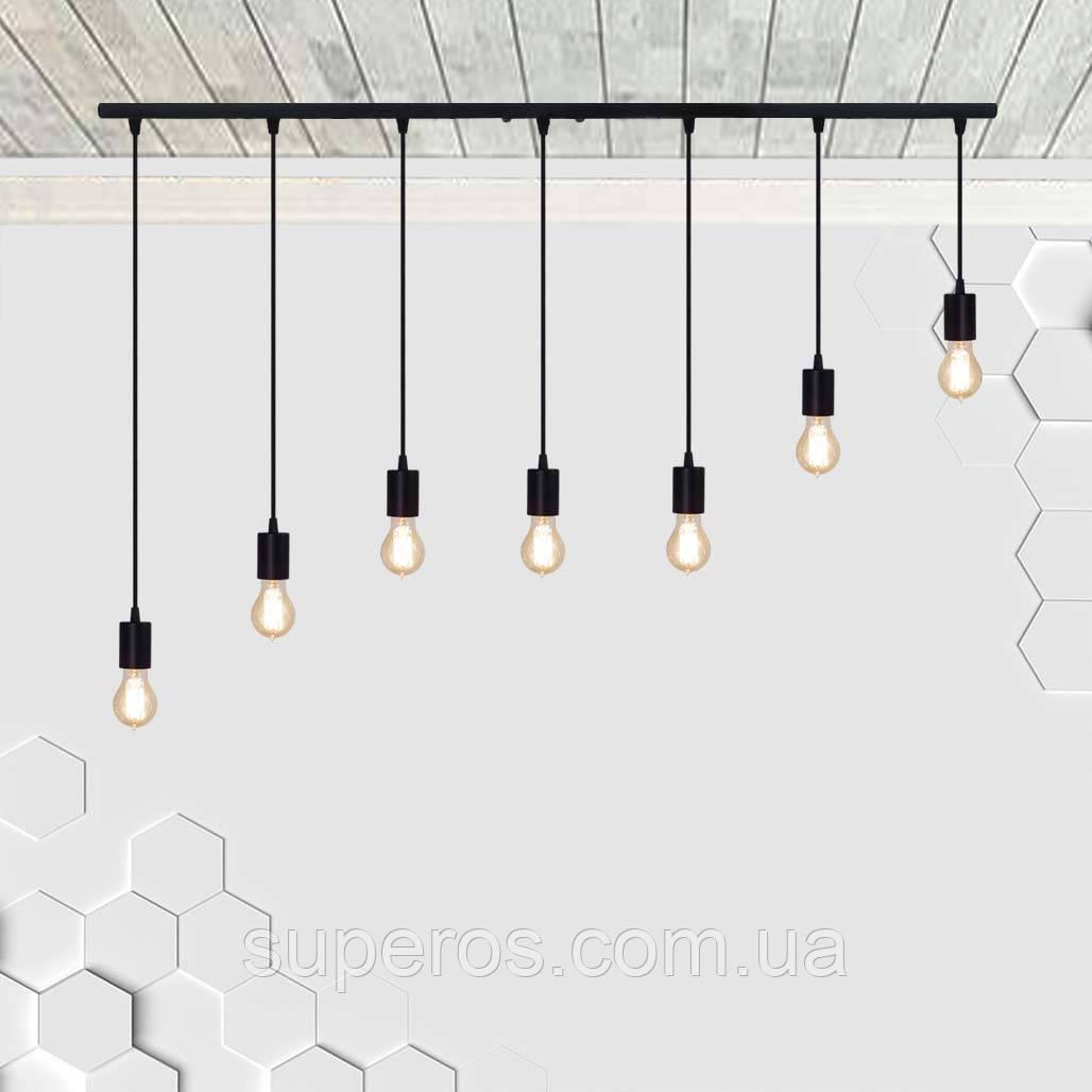 Підвісний світильник на 7-ламп CEILING-7 E27 чорний