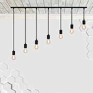 Підвісний світильник на 7-ламп CEILING-7 E27 чорний, фото 3
