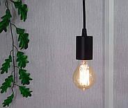 Підвісний світильник на 7-ламп CEILING-7 E27 чорний, фото 5