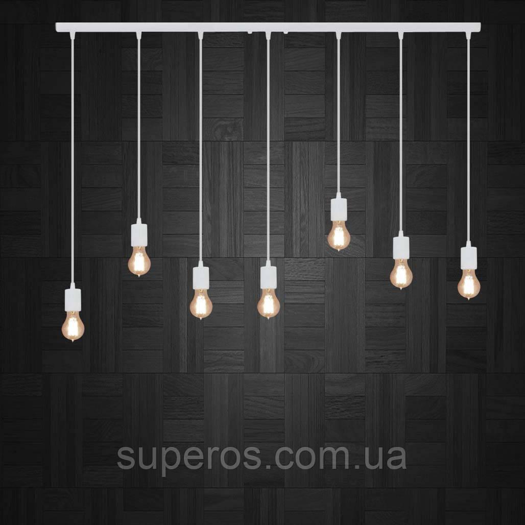 Подвесной светильник на 7-ламп CEILING-7 E27 белый