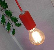 Підвісний світильник на 7-ламп CEILING-7 E27 червоний, фото 8