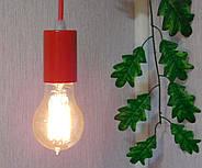 Підвісний світильник на 7-ламп CEILING-7 E27 червоний, фото 9