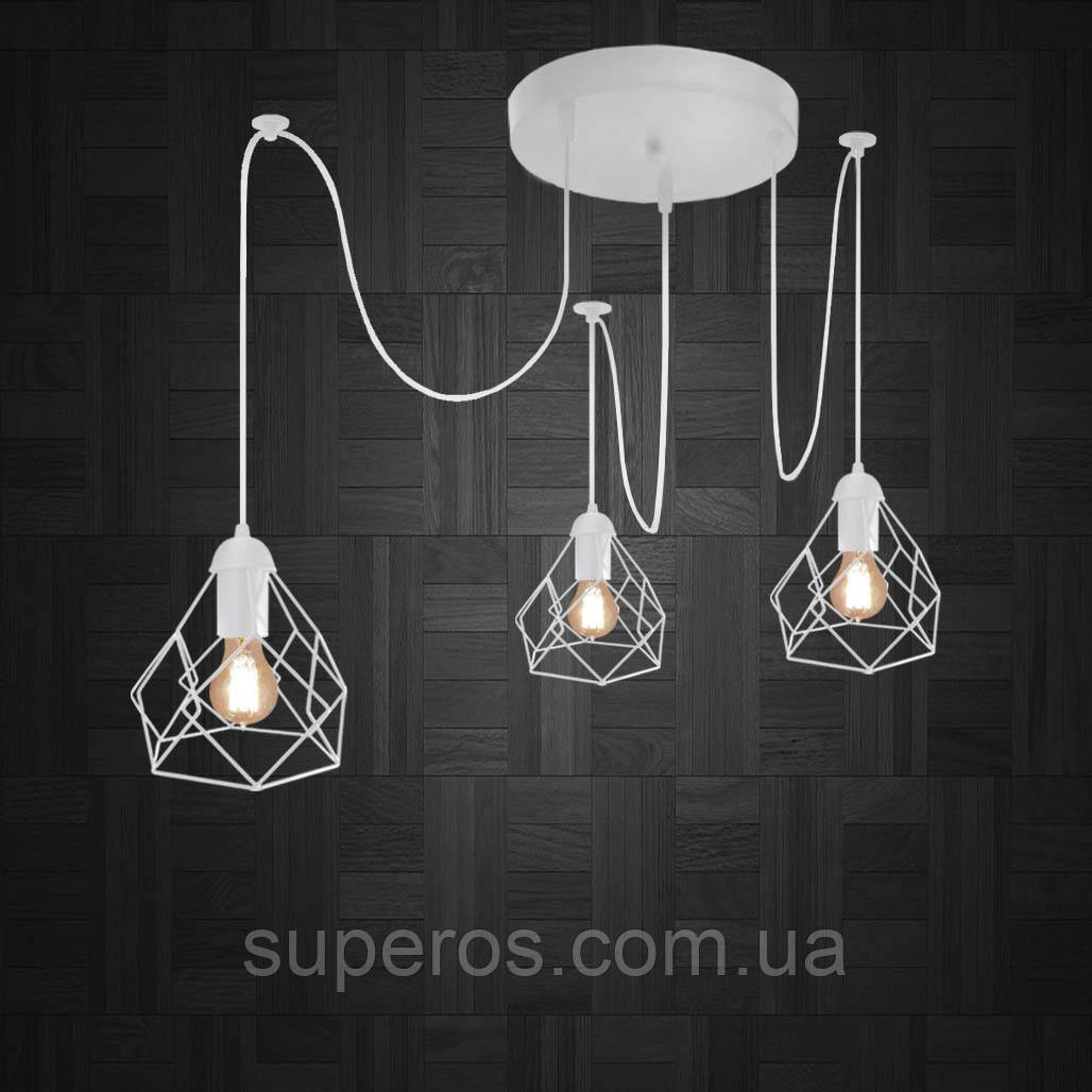 Подвесная люстра на 3-лампы RUBY/SP-3W E27 белый