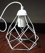 Підвісна люстра на 4-лампи RUBY/SP-4W E27 білий, фото 2