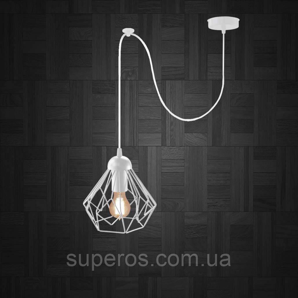 Підвісний світильник на 1-лампу SKRAB/SP-W E27 білий