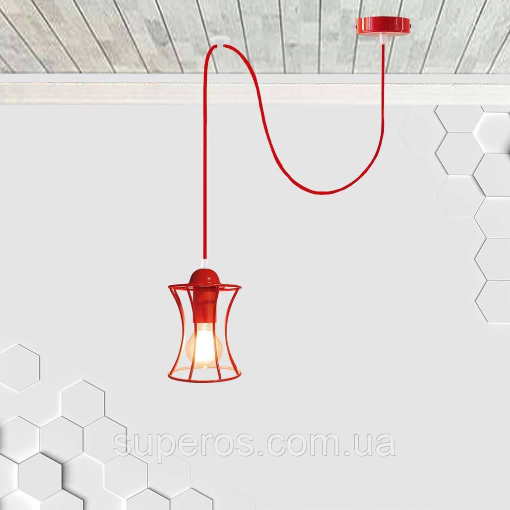 Підвісний світильник на 1-лампу SANDBOX/SP-R E27 червоний