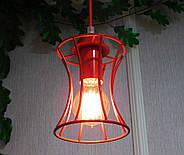 Підвісна люстра на 3-лампи SANDBOX/SP-3R E27 червоний, фото 2