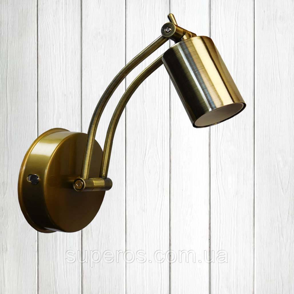 Спот поворотний на 1-лампу SWIPE E27 золотий бра