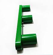 Светильник бра настенно-потолочный на 3-лампы BASE-3  E27 зеленый, фото 2