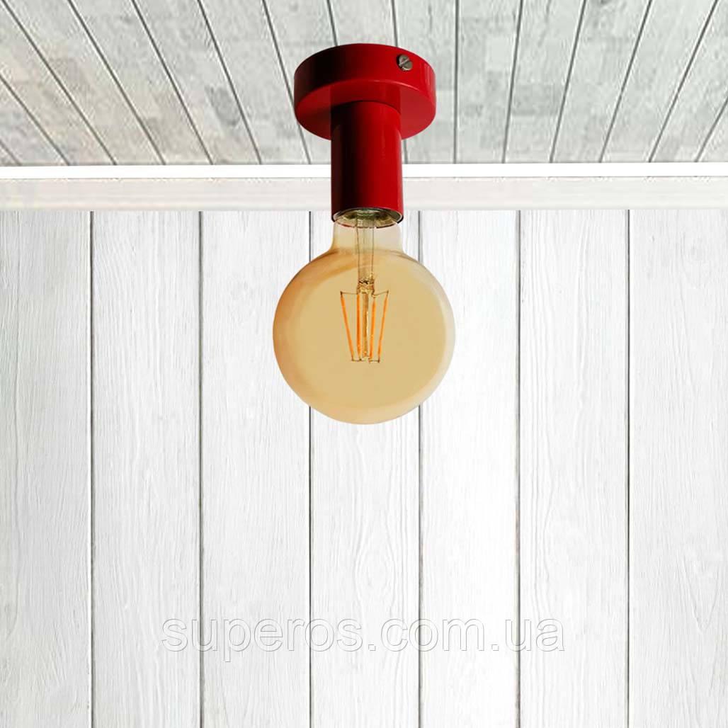 Світильник бра настінно-стельовий на 1-лампу BASE E27 червоний