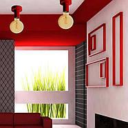 Світильник бра настінно-стельовий на 1-лампу BASE E27 червоний, фото 2