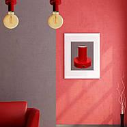 Світильник бра настінно-стельовий на 1-лампу BASE E27 червоний, фото 3