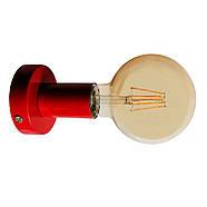 Світильник бра настінно-стельовий на 1-лампу BASE E27 червоний, фото 6