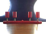 Спот поворотний на 4-лампи SLEEVE-4 E27 червоний, фото 3