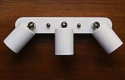 Спот поворотный на 3-лампы SLEEVE-3 E27 белый, фото 2