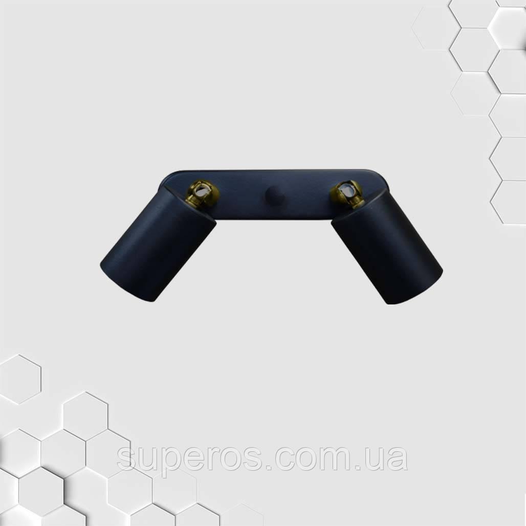 Спот поворотний на 2-лампи SLEEVE-2mini E27 чорний