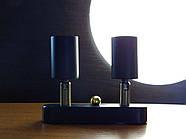 Спот поворотний на 2-лампи SLEEVE-2mini E27 чорний, фото 2