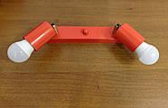 Спот поворотний на 2-лампи SLEEVE-2 E27 червоний, фото 3