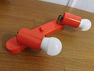 Спот поворотний на 2-лампи SLEEVE-2 E27 червоний, фото 4