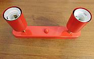 Спот поворотний на 2-лампи SLEEVE-2 E27 червоний, фото 7