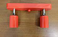 Спот поворотний на 2-лампи SLEEVE-2 E27 червоний, фото 8