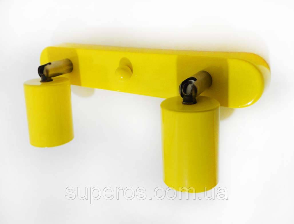 Спот поворотний на 2-лампи SLEEVE-2 E27 жовтий