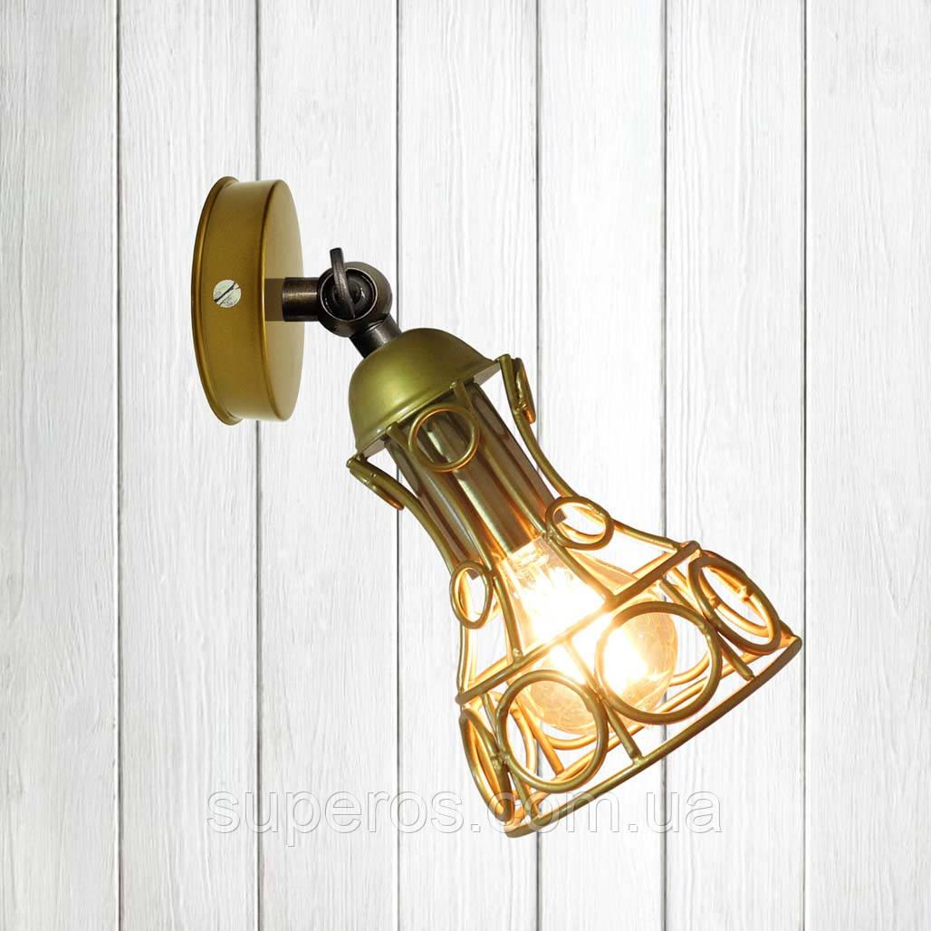 Світильник поворотний на 1-лампу RINGS/LS E27 бра, золото